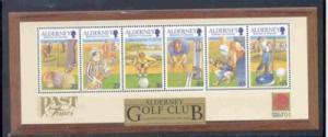 Alderney Sc 175a 2001 Golf Club stamp sheet mint NH