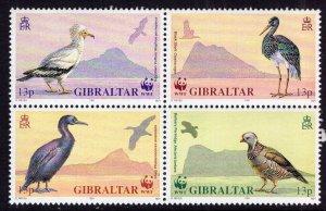 GIBRALTAR 1991 , 594a Birds MNH set Block