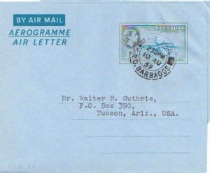 Barbados Higgins & Gage FG2 Typewritten Address.