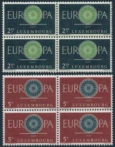 Luxembourg 374-375 blocks/4,MNH.Michel 629-630. EUROPE CEPT-1960.19-Spoke Wheel.