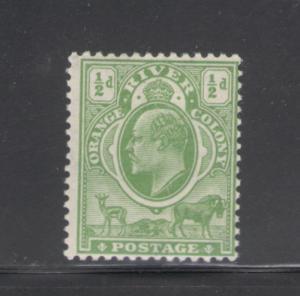 Orange River Colony 1903 King Edward VII 1/2p Scott # 61 MH