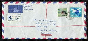 [c16[ - RHODESIA 1971 Registered Cover to CANADA. Hippo Stamp