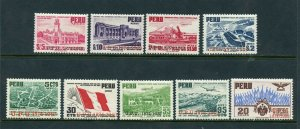 PERU SCOTT # C94 - C120 FLAGS OF AMERICAS AND SPAIN MNH AS SHOWN