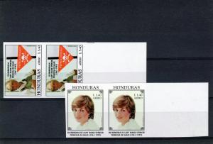 Honduras 1997 Diana Princess/M.Teresa (2) Pair Imperf #C1011/1012 MNH VF