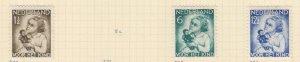 NETHERLANDS, 1934 Child Welfare, 1 1/2c., 6c. & 12 1/2c., heavy hinged mint.