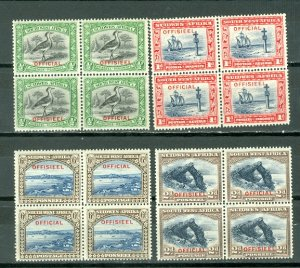 SOUTH WEST AFRICA OFFICIALS #O13-16...SET in BLKS...MNH...$52.00