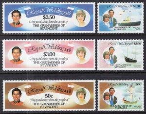 St Vincent Grenadines 209-214 Royal Wedding MNH VF