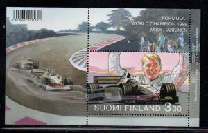 Finland Sc 1098 1999 Hakkinen Racing stamp sheet mint NH
