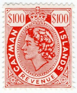 (I.B) Cayman Islands Revenue : Duty Stamp $100