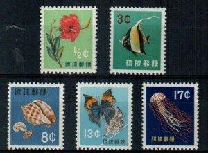 Ryukyu Scott 58-62 Mint NH [TE225]