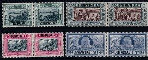 SOUTH WEST AFRICA  1938  S G 105 - 108   VOORTREKER CENTENARY  SET  MH CAT £110