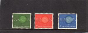Germany 1960 Europa MH