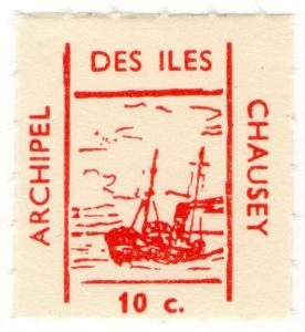 (I.B) France Cinderella : Isle of Chausey Local Post 10c