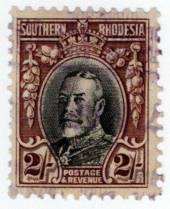 (I.B) Southern Rhodesia Revenue : Duty Stamp 2/- (perf 11.5)