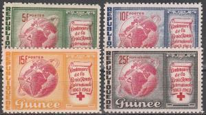 Guinea #309-11, C50  MNH VF (V3386L)