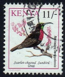 Kenya #605 Scarlet-chested Sunbird, 1993. Used