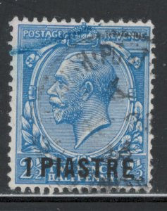 Great Britain Offices Turkish Empire 1911 Surcharge 1pi Scott # 39 Used