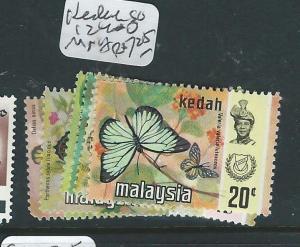 MALAYA KEDAH (PP3007B) BUTTERFLY SG 124-30  MNH
