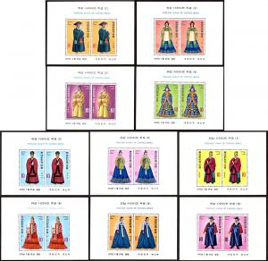Korea 859a-68a s/s set/10 mnh 1973 Trad'l Costumes (cond*)
