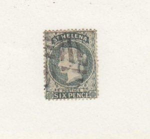 ST. HELENA (MK6612) # 7  VF-USED  6p 1889 QUEEN VICTORIA / GRAY / SET #2
