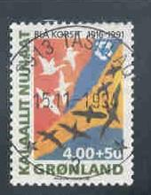 Greenland Sc B15 1991 Blue Cross Charity stamp used
