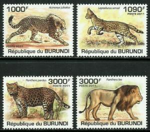 Burundi MNH 842-5 Big Cats 2011 SCV 13.50