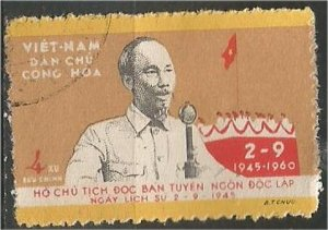 VIET NAM, NORTH, 1960, used 4d, National Day Scott 132
