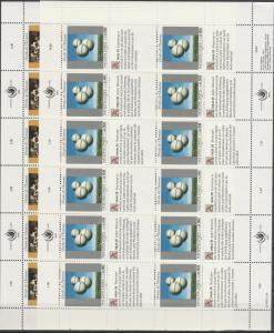 United Nations Geneva #234-5  Panes Of 12  MNH  CV $25.00 (S6249L)