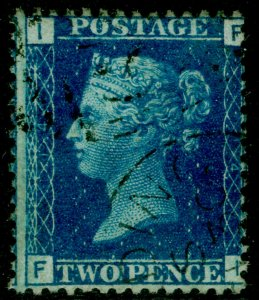 SG47, 2d dp blue plate 14, FINE USED. Cat £38. FI