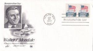 1977, Walter F. Mondale Inauguration Day Cover, Art Craft/PCS (E11518)