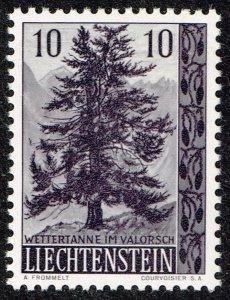 Liechtenstein Stamp 1957 Trees and Bushes MH/OG STAMP 10 RP