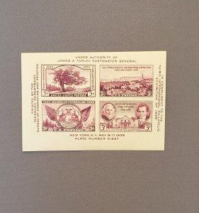 778, Sheet of 4, Mint CV $3.50