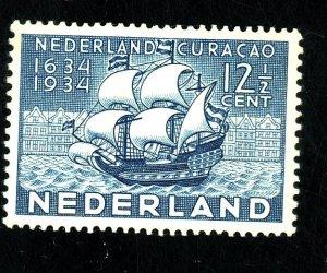 NETHERLANDS #203 MINT VF OG LH Cat $22