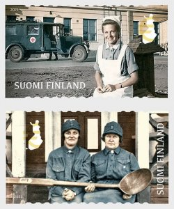 Stamps of Finland 2021.- Lotta Svard.100 Years Of Social Responsibility. Set.