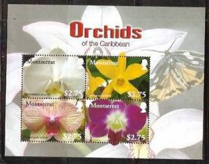 Montserrat 2008 Orchids of Carribean Flower Plant  M/s MNH** # 7600
