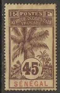 1906 Senegal Scott 67A Oil Palms MH gum thin but clear