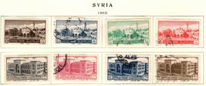 Syria Scott 366-373 used set 1952 issue