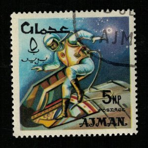 Space 1966 Airmail, Ajman 5NP (TS-564)