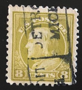 508 Wash/Franklin, 11 perf, NWM, circ. single, Vic's Stamp Stash