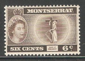 Montserrat 1955,QE II,6c,Sc 134,VF MNH**OG (MT-2)