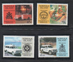 Norfolk Island Sc  534-37 1993 Emergency Services stamp set mint NH