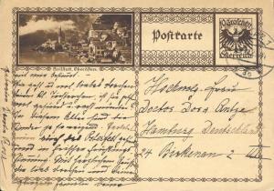 AUTRICHE / AUSTRIA 1927 MiP278a 10Gr dark brown P. card (HALLSTATT) Used Graz