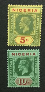 MOMEN: NIGERIA SG #28-29 1925,1926 MINT OG H LOT #194730-3200
