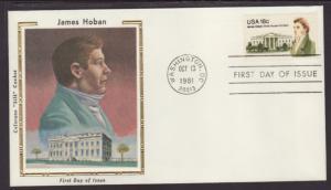 US 1935 James Hoban 1981 Colorano U/A FDC