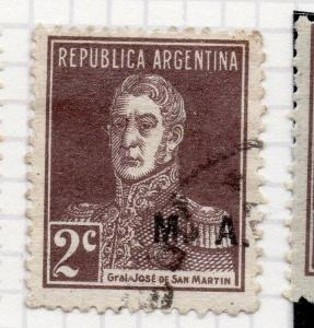 Argentina 1924 Early Official MA Optd Issue Fine Used 2c. 188419