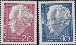 Germany 1964 President Heinrich Lubke  SC# 881-882MNH