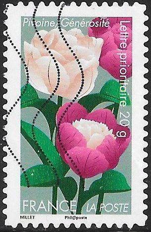 France 4166 Used - Flowers - Peonies