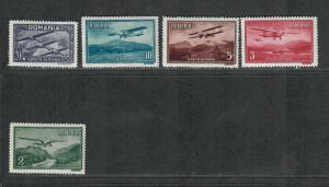 Romania Sc#C17-21 M/H/VF, Complete Set, Cv. $27