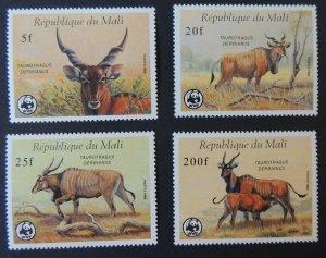 Republic of Mali 1986 WWF giant eland 4 values mnh animals mammals