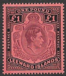 Leeward Island 115  1951   0ne Pound  VF Mint   - hinged